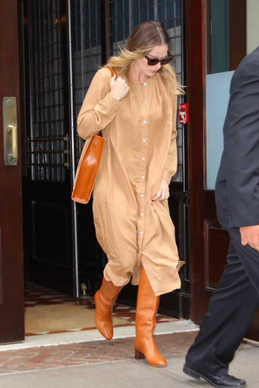 MARGOT ROBBIE Leaves Her Hotel in New York 10/07/2019