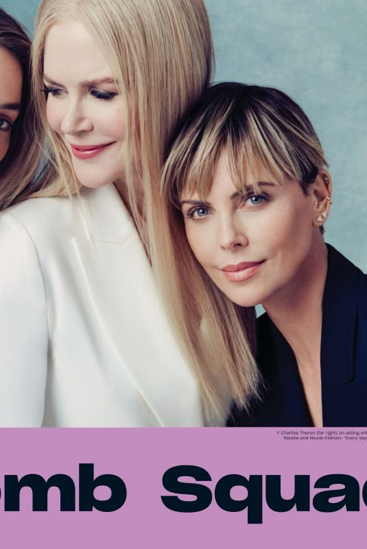 MARGOT ROBBIE, NICOLE KIDMAN and CHARLIZE THERON in Entertainment Weekly, October 2019