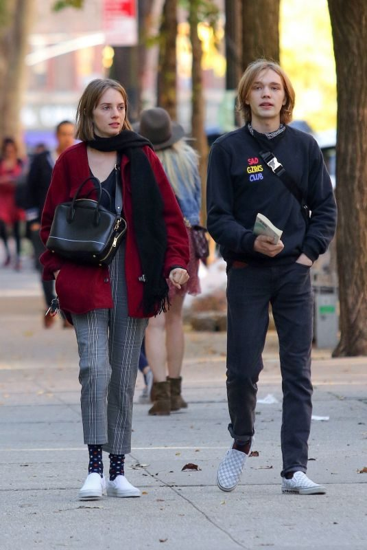 MAYA HAWKE and Charlie Plummer Out in New York 10/24/2019
