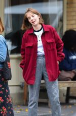 MAYA HAWKE Out with a Friend in New York 10/28/2019