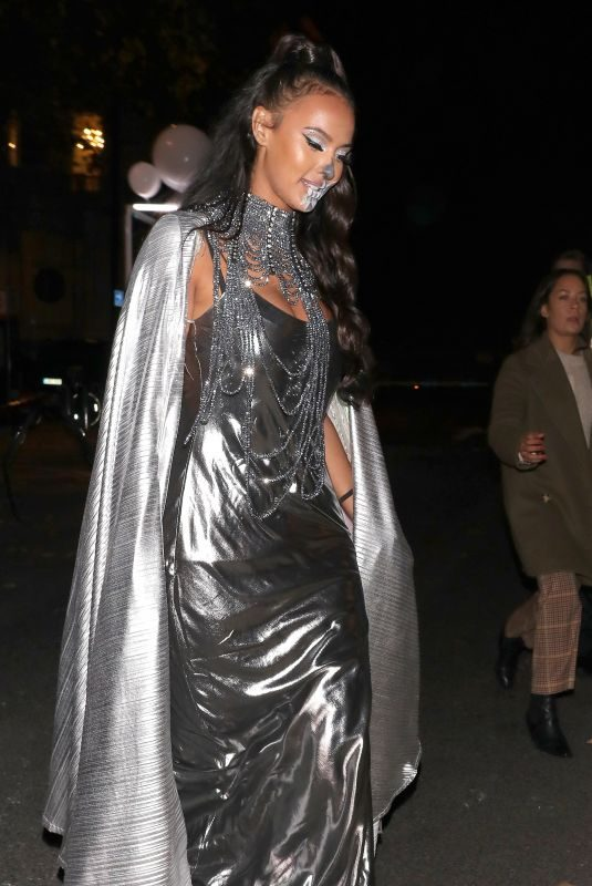 MAYA JAMA Arrives at Unicef Halloween Ball in London 10/30/2019
