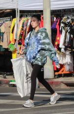 MDISON BEER Shopping at American Vintage Clothing Store in Los Angeles 10/14/2019