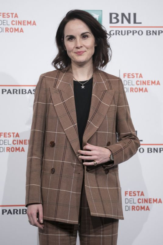 MICHELLE DOCKERY at Downton Abbey Photocall at 14th Rome Film Festival 10/19/2019
