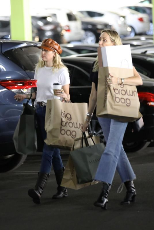 MILEY and TISH CYRUS Out Shopping in Studio City 10/13/2019
