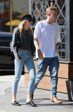 MILEY CYRUS and Cody Simpson Out in Los Angeles 10/28/2019