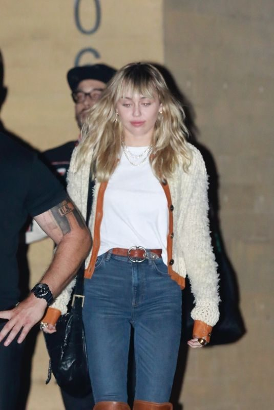 MILEY CYRUS Out for Dinner in Malibu 10/05/2019