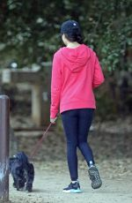 MIRANDA COSGROVE Out with Her Dog in Los Angeles 10/06/2019