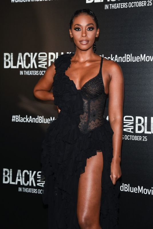 NAFESSA WILLIAMS at Black and Blue Screening in New York 10/21/2019