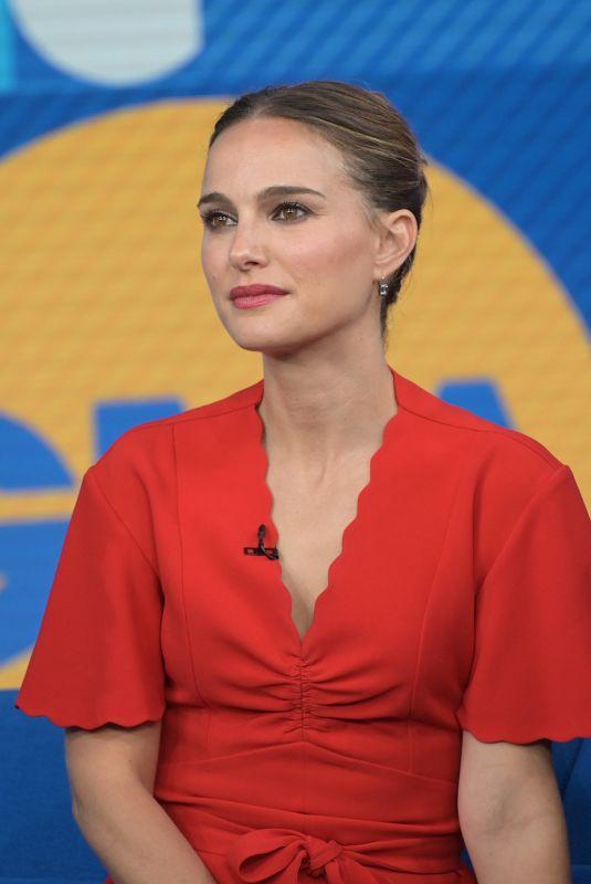 Natalie Portman Leaves Good Morning America in New York