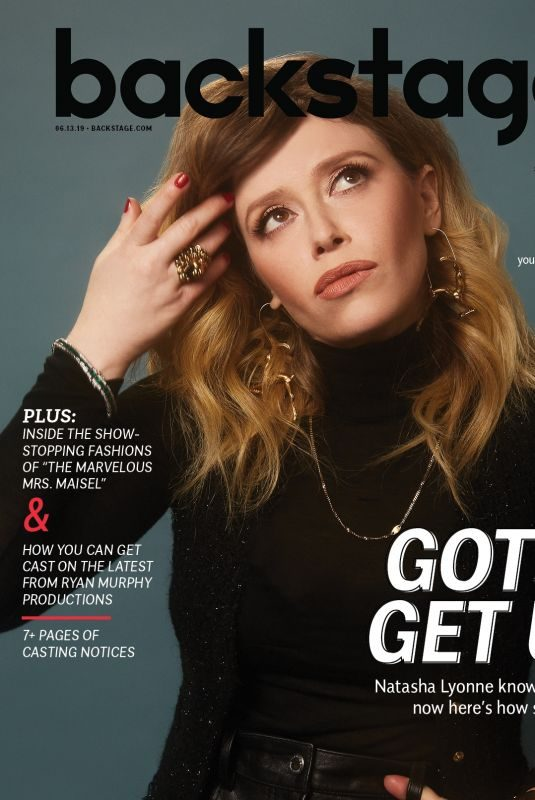 NATASHA LYONNE for Backstage Magazine, June 2019
