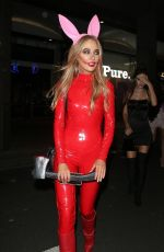 NICOLA HUGHES at Halloween Party at M Restaurant in London 10/25/2019