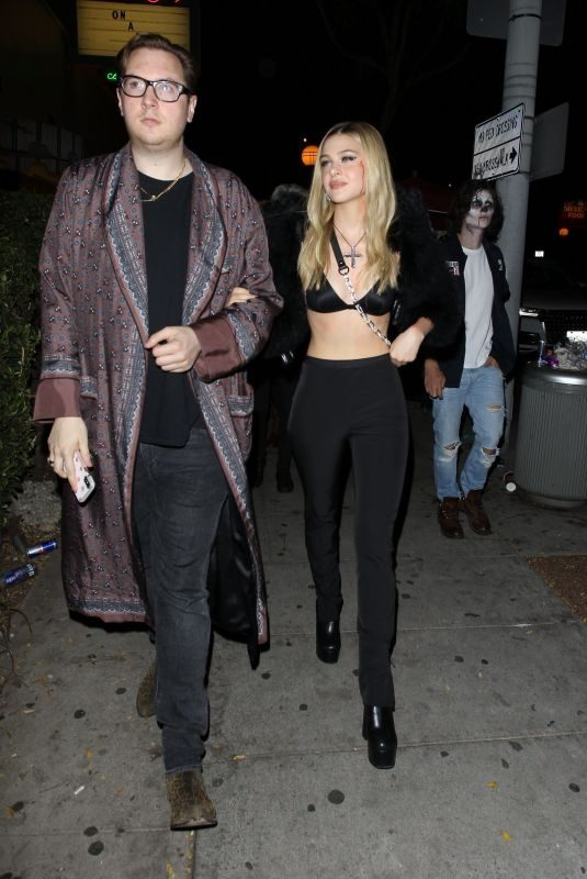 NICOLA PELTZ and Justin Campbell at Drake's Birthday Party in West Hollywood 10/24/2019