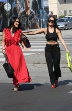NIKKI and BRIE BELLA Out Shoppoing on Ventura Blvd in Studio City 10/14/2019