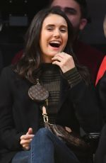 NINA DOBREV at Golden State Warriors vs. Los Angeles Lakers Game at Staples Center 10/16/2019