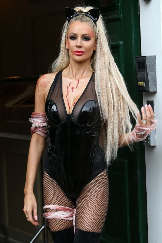 OLIVIA ATTWOOD on the Set of TOWIE Halloween Special 10/21/2019