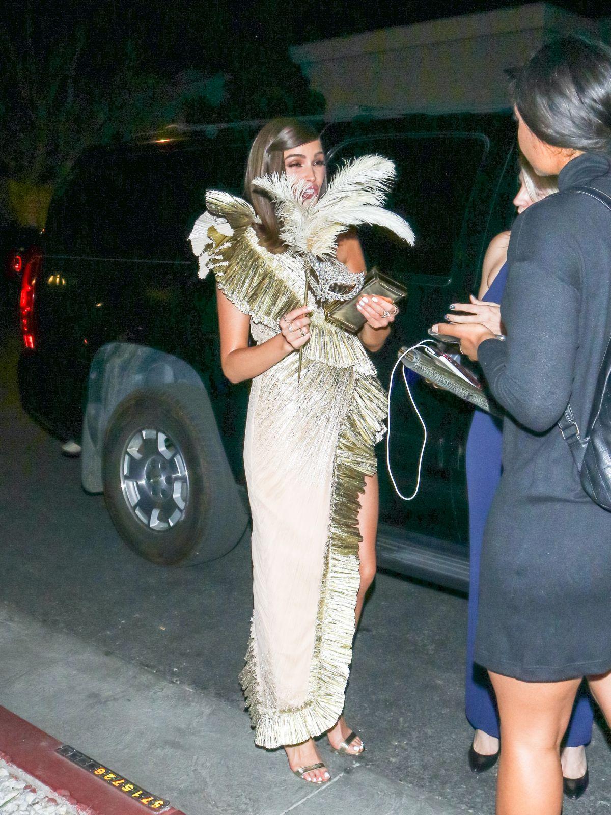 OLIVIA CULPO Arrives at Billie Eilish Halloween Party in