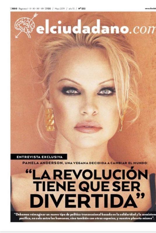 PAMELA ANDERSON for El Ciudadano.com Magazine, May 2019
