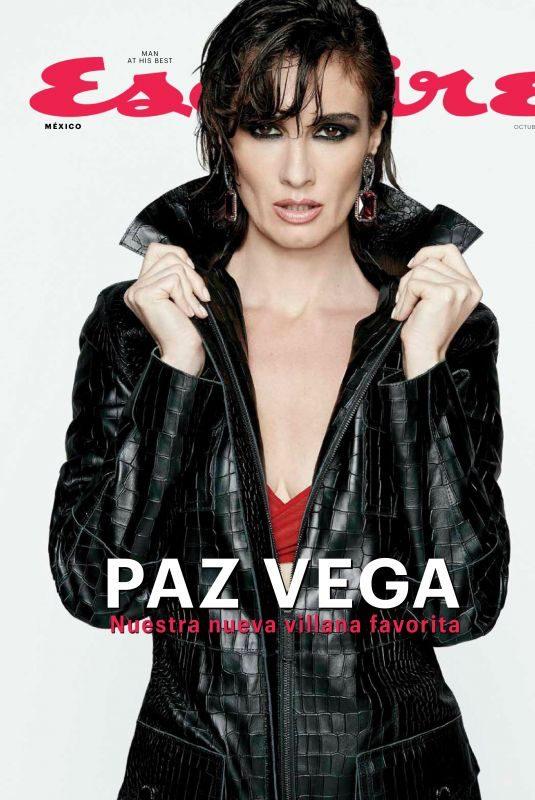 PAZ VEGA in Esquire Magazine, Mexico October 2019