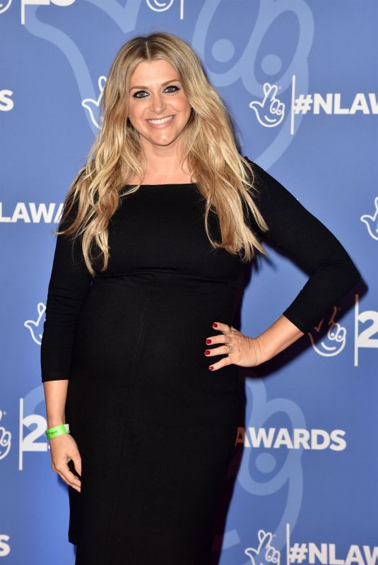 Pregnant ANNA WILLIAMSON at National Lottery Awards 2019 in London 10/15/2019