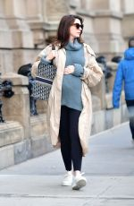 Pregnant ANNE HATHAWAY Out in New York 10/11/2019