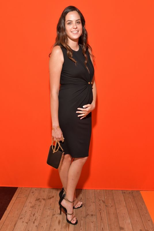 Pregnant ANOUCHKA DELON at Eelie Saab Show at Paris Fashion Week 09/28/2019