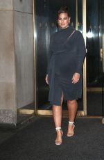 Pregnant ASHLEY GRAHAM Arrives at Today Show in New York 10/30/2019