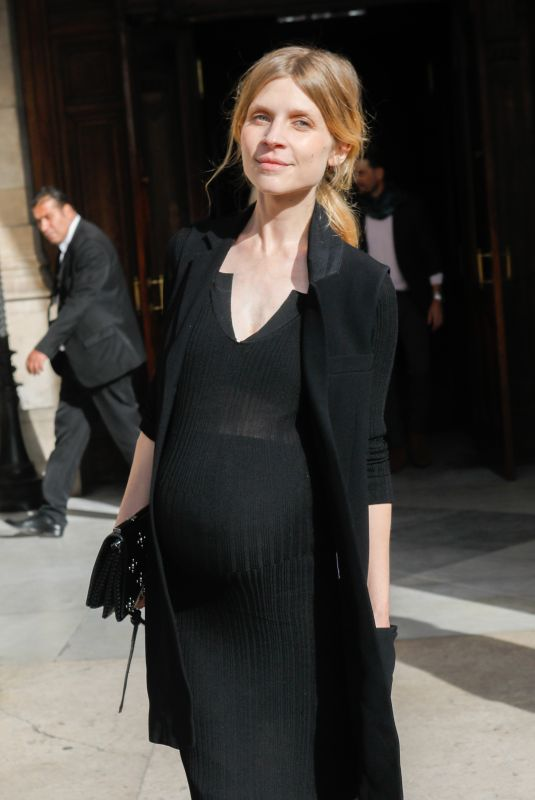Pregnant CLEMENCE POESY at Stella McCartney Show at Paris Fashion Week 09/30/2019