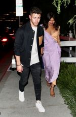 PRIYANKA CHOPRA and Nick Jonas Night Out in West Hollywood 10/14/2019