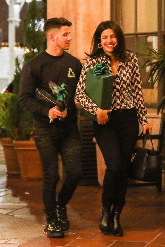 PRIYANKA CHOPRA and Nick Jonas Out in Beverly Hills 10/09/2019