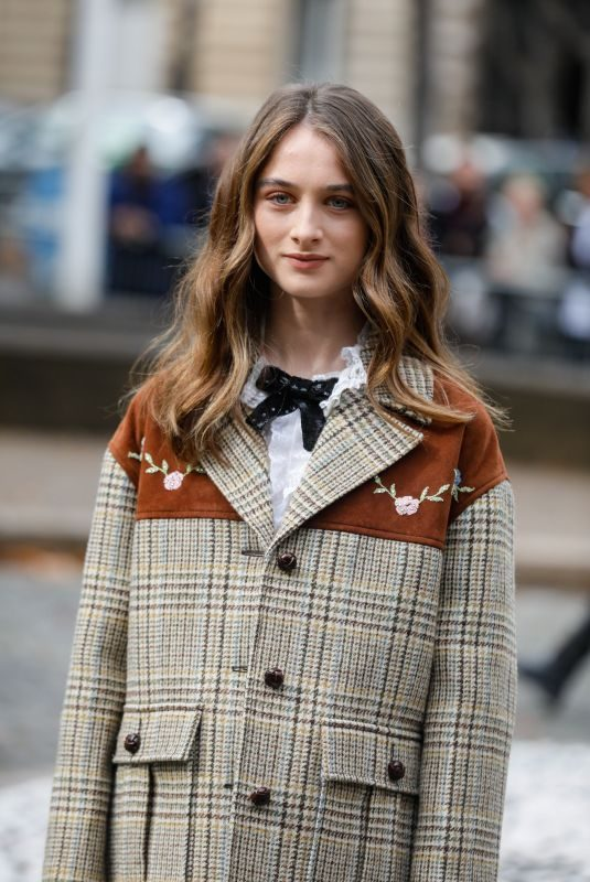 RAFFEY CASSIDY at Miu Miu Show at Paris Fashion Week 10/01/2019