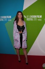 RAFFEY CASSIDY at The Other Lamb Premiere at BFI London Film Festival 10/11/2019
