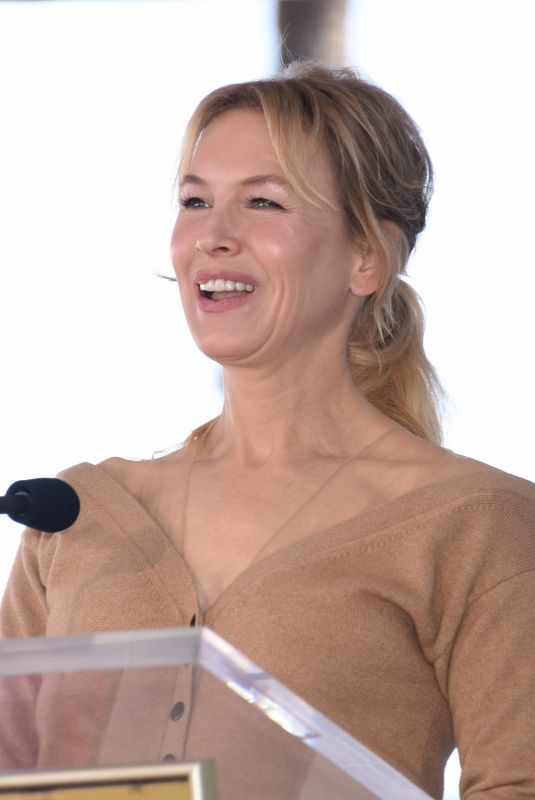 RENEE ZELLWEGER at Harry Connick Jr. Hollywood Walk of Fame Ceremony 10/24/2019