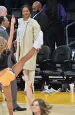 RIHANNA at LA Lakers vs. Utah Jazz Game at Staples Center in Los Angeles 10/25/2019