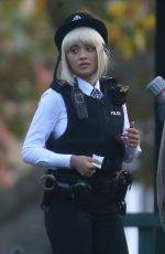 RITA ORA on the Set of Oliver Remake in London 10/22/2019