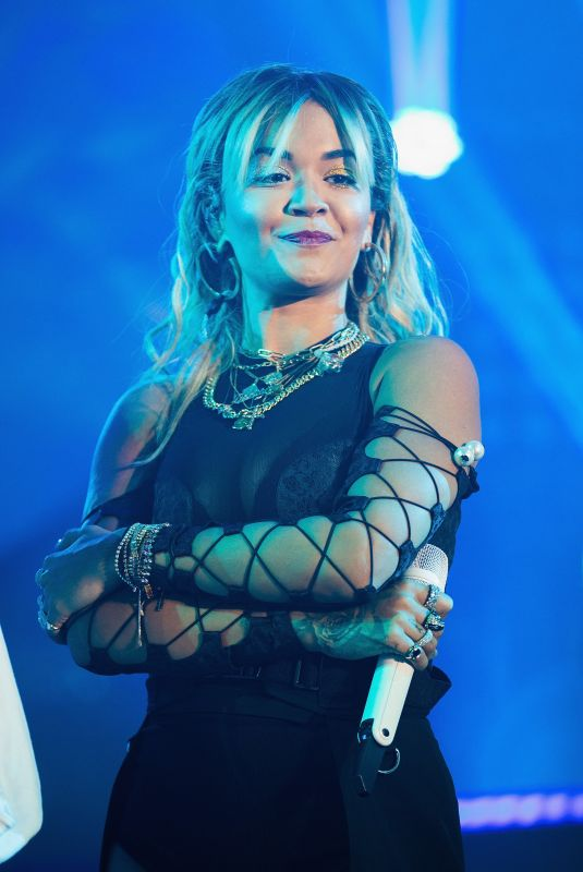RITA ORA Performs at American Express Gold Launch at Casino Del Bosque in Mexico City 10/17/2019