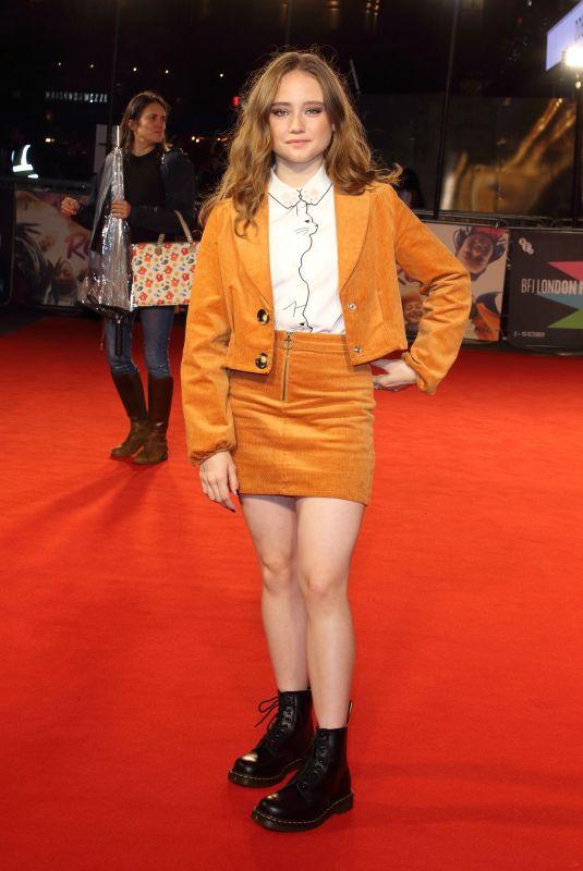 RUBY STOKES at Rocks Premiere at 2019 BFI London Film Festival 10/11/2019