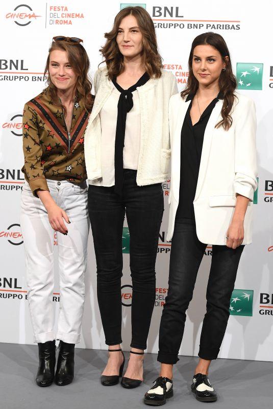 SARA KLIMOSKA, KAMKA TOCINOVSI and NATALIJA TEODOSIEVA at Willow Photocall at Rome Film Festival 10/19/2019
