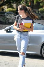 SARA SAMPAIO Arrives at Acting Class in Los Angeles 10/10/2019