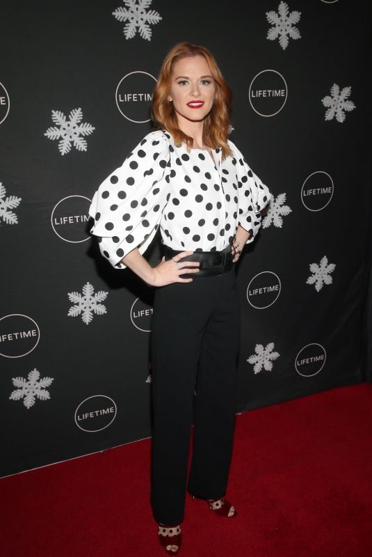 SARAH DREW at It's A Wonderful Lifetime Season Celebration in Los Angeles 10/22/2019