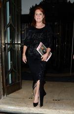 SARAH FERGUSON Leaves Claridges Hotel in London 10/16/2019
