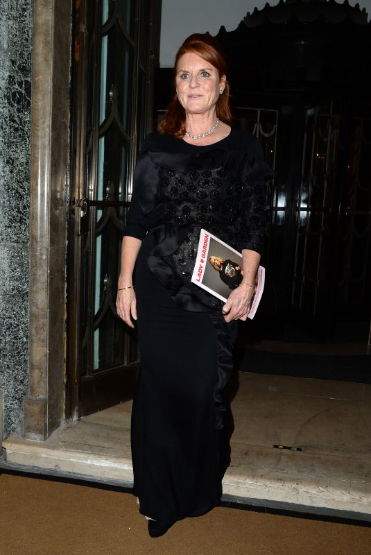 SARAH FERGUSON Leaves Claridges Hotel in London 10/16/2019