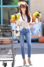 SARAH HYLAND Buys a Bouquet of Halloween Sunflowers in Los Angeles 10/18/2019