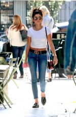 SARAH HYLAND in Denim Out in West Hollywood 10/17/2019