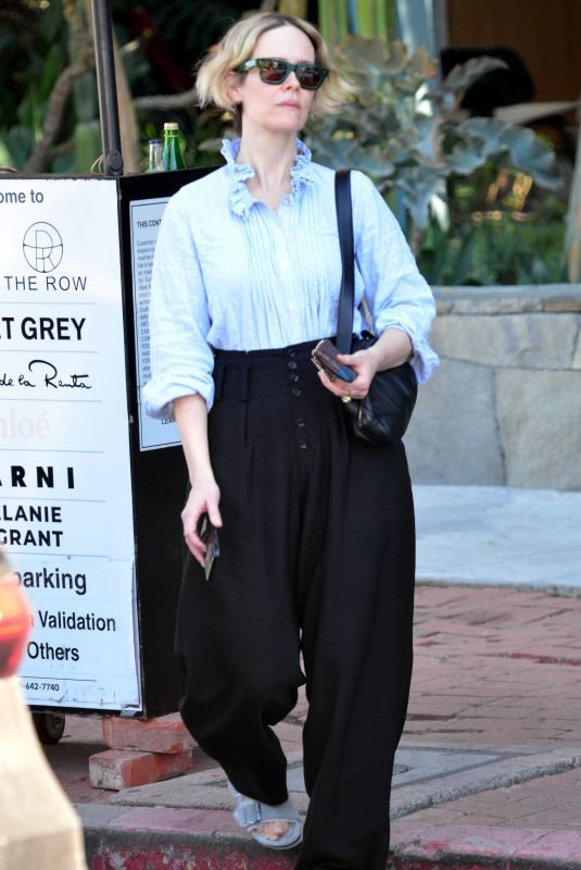 SARAH PAULSON Out and About in West Hollywood 10/08/2019