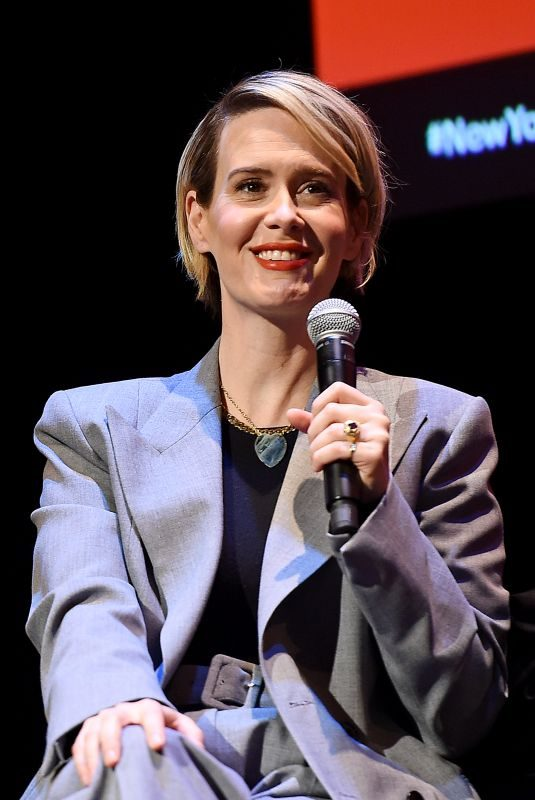 SARAH PAULSON Talk with Michael Schulman at 2019 New Yorker Festival 10/12/2019