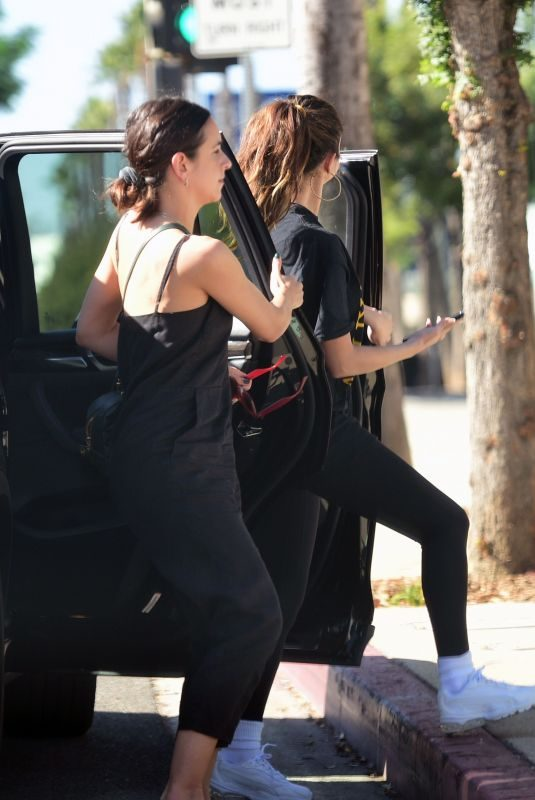 SELENA GOMEZ Out for Lunch in Los Angeles 10/19/2019