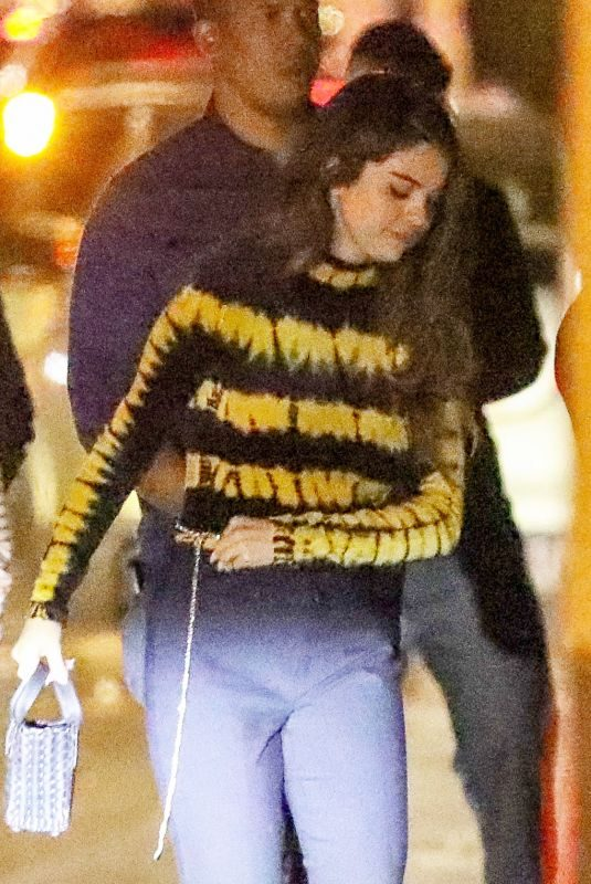 SELENA GOMEZ Throwing a Celebration Party with Her Team in West Hollywood 10/23/2019