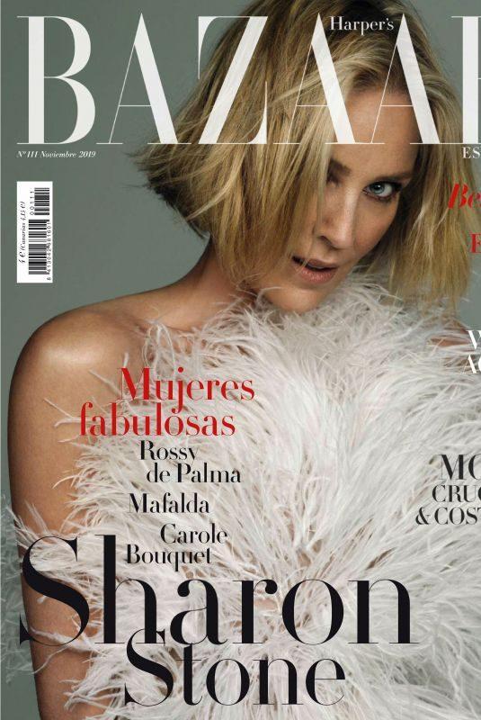 SHARON STONE in Harper's Bazaar Magazine, Spain November 2019