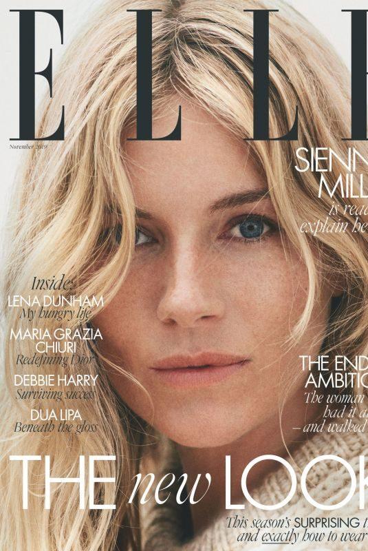 SIENNA MILLER in Elle Magazine, UK November 2019