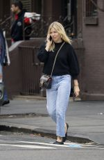 SIENNA MILLER Out and About in New York 10/22/2019
